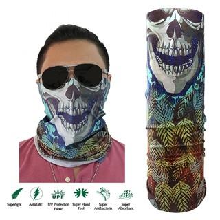 Skull Face Design Full Face Mask - Blue