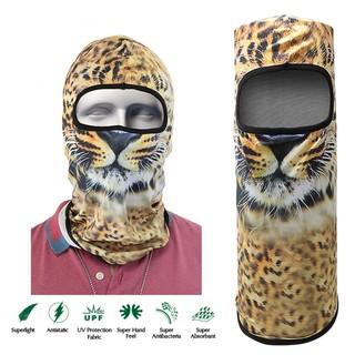 Tiger Face Design Full Face Mask - Orange