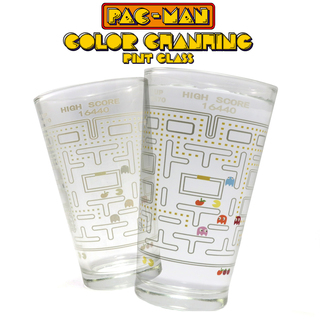 Pacman Drinking Glass - Transparent