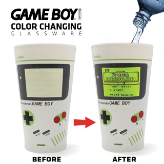 Game Boy Drinking Glass - White