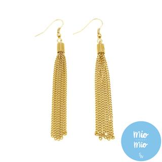 X3900 Gold F-hook Tassel Earrings
