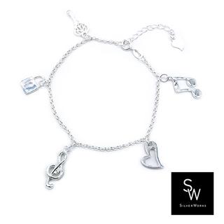 Silverworks B5227-KEY,LOCK,G-CLEF,HEART,DOBOL NOTE W/ROLO