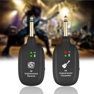 Wireless Audio Transmission Set With Receiver Transmitter - Black 7864