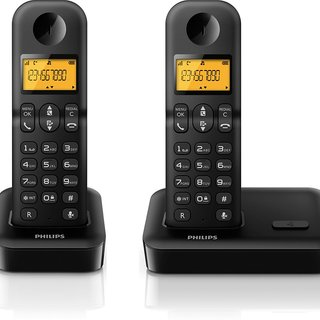 Philips Duo Cordless Phone w/ Backlight  (D400DUO)