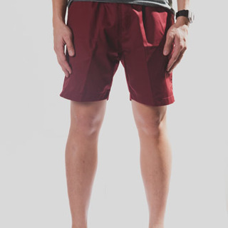 Burgundy Tailored Shorts