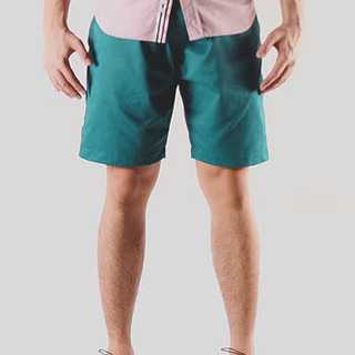 Teal Tailored Shorts