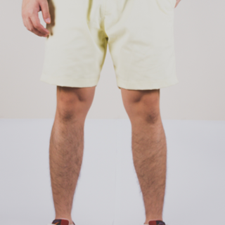 Pastel Yellow Tailored Shorts