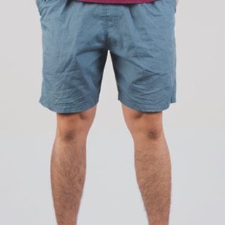 Olive Blue Tailored Shorts