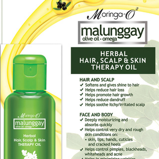 Moringa- O2  Malunggay Herbal Hair, Scalp & Skin Therapy Oil (30 ml)
