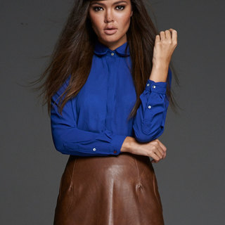 Women's Medium-Blue Sheer Blouse