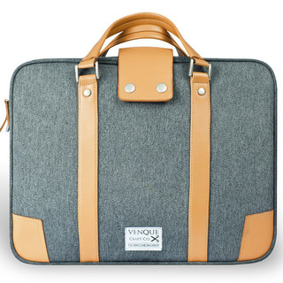 Venque Hamptons Briefcase Laptop Bag - Grey