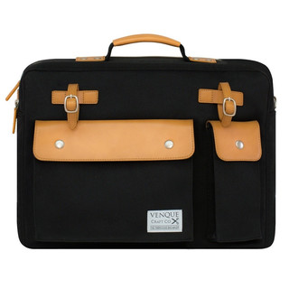 Venque Milano Briefcase Laptop Bag - Black