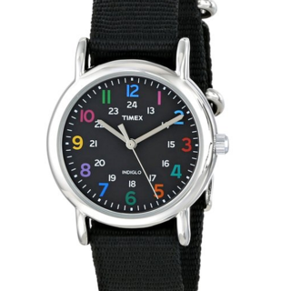 "Timex Women's ""Weekender"" Slip Through Strap Solid Color Watch (T2N869)"