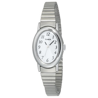 Timex Women's  Cavatina Silver-Tone  Band Watch	(T21902)