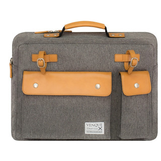 Venque Milano Briefcase Laptop Bag - Grey