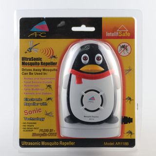 ARC AR118A-1 Ultrasonic Mosquito Repeller Penguin (Grey/Black)