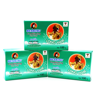 Bearing Anti- Flea and Tick Long Hair Soap 100g Set of 3 (Green)