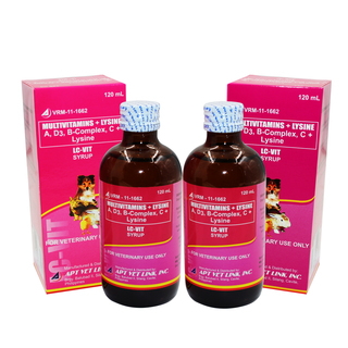 LC-VIT Forte Syrup Multivitamins and Lysine for Pets 120mL Set of 2
