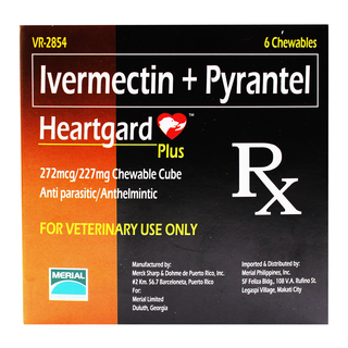 Heartgard Plus Ivermectin and Pyrantel Chewable Cubes for Dogs 51 to 100 lbs HP-DM-003