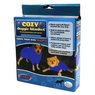 Cozy Doggie Small Pet Blanket COZY-DBLUE-S