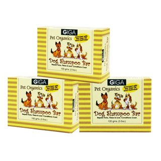 Giga Dog Shampoo Bar 100g Set of 3 GIGA-001