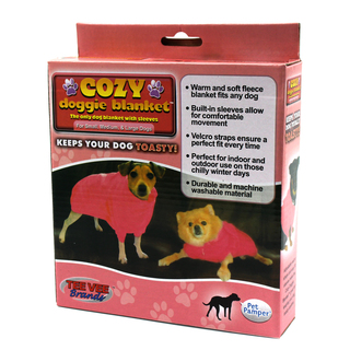 Cozy Doggie Small Pet Blanket COZY-RED-S