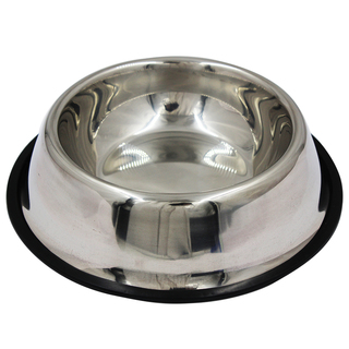 "Petpals Stainless Steel Medium 5.5"" Dog Food Bowl DB-002"