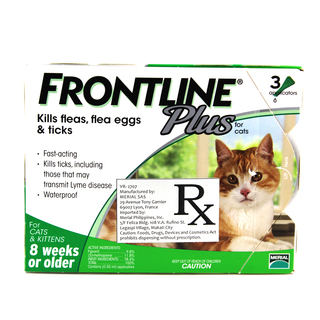 FRONTLINE Plus Flea & Tick Medication for Cats 8 Weeks and Older FP-CM-001