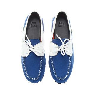 The Shoe Cycle Mens Topsider Blue/white