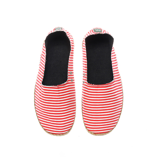 The Shoe Cycle Ladies Espadrille Red/White Stripes