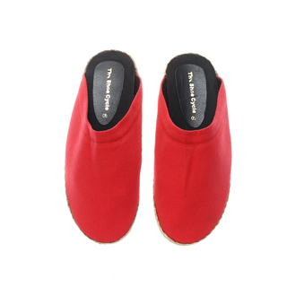 The Shoe Cycle Mens Espadrille Half Shoes Red