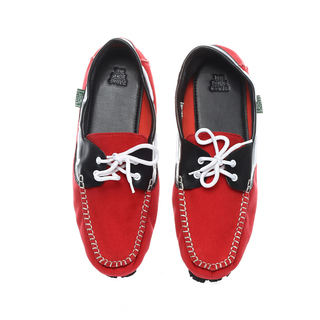 The Shoe Cycle Mens Topsider Red/Black