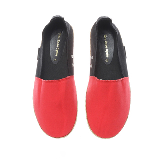 The Shoe Cycle Mens Espadrille Red/Black