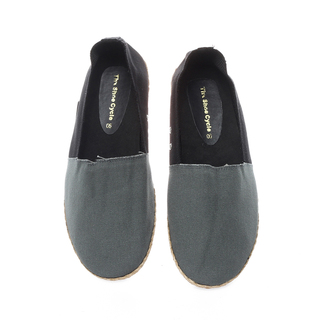 The Shoe Cycle Mens Espadrille Grey/Black