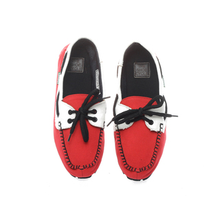 The Shoe Cycle Ladies Topsider Red/White