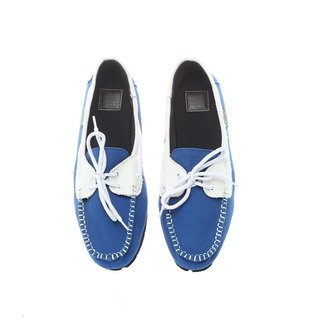 The Shoe Cycle Ladies Topsider Blue/White