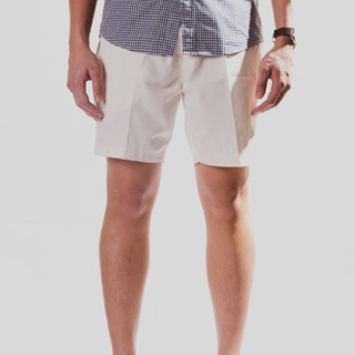 White Tailored Shorts