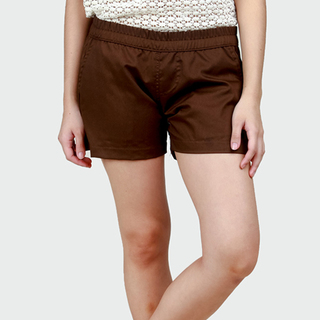 Women's Brown Tailored Shorts