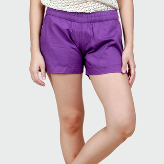 Women's Purple Tailored Shorts