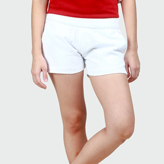 Women's White Tailored Shorts