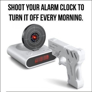 Gun Target Shooting Alarm Clock with Sound Record Function