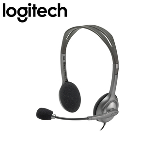 Logitech H110 Stereo Headset with Noise Cancelling Mic (Black)