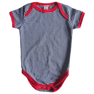 Black & White Striped Onesie Set for boys
