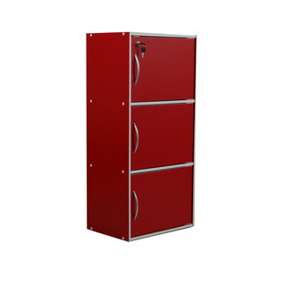 TAILEE ST-300BDF  3-LAYER UTILITY CABINET W/ DOOR (RED)