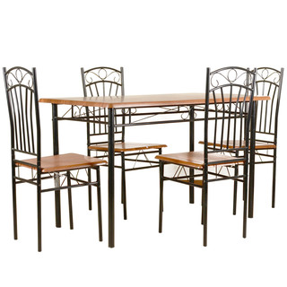 TAILEE DS-022 4-SEATER DINING SET (COFFEE)