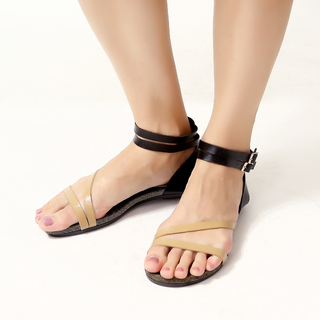 JAC&JAM FLAT STRAPPY SANDALS (NATURAL) JSF1-106