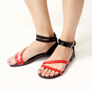 JAC&JAM FLAT STRAPPY SANDALS (BLACK FOREST) JSF1-106