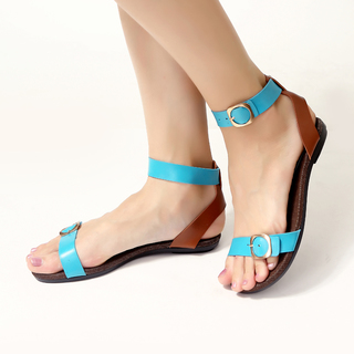 JAC&JAM FLAT STRAPPY SANDALS (EASTER BLUE) JSF1-111