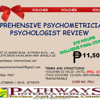 Comprehensive Psychometrician and Pyschologist Review (Metro Manila)