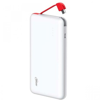 10000 mah Slim Lithium Polymer Hame Powerbank With Charging Cable Slot